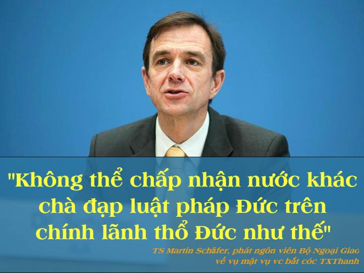 Đức tạm thời đình chỉ quan hệ đối tác chiến lược, trục xuất thêm nhà ngoại giao CSVN vì vụ Trịnh Xuân Thanh