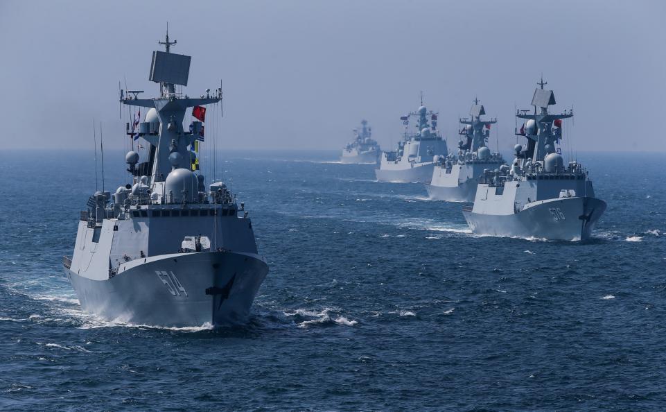 Hải quân Trung Cộng tập trận trên vùng biển mới cùng với Nga