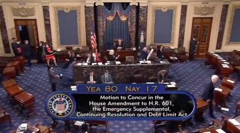 Hạ Viện chấp thuận dự luật nâng trần nợ 3 tháng, 15.25 tỷ Mỹ kim viện trợ cho tình trạng bị thiên tai