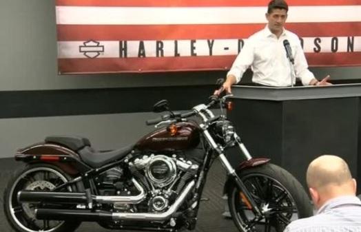 Chủ tịch hạ viện Paul Ryan hứa cải cách thuế trong chuyến thăm nhà máy Harley Davidson