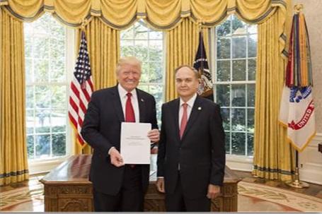 """Tân đại sứ Nga tại Hoa Kỳ có cuộc gặp """"thân mật"""" với tổng thống Trump"""