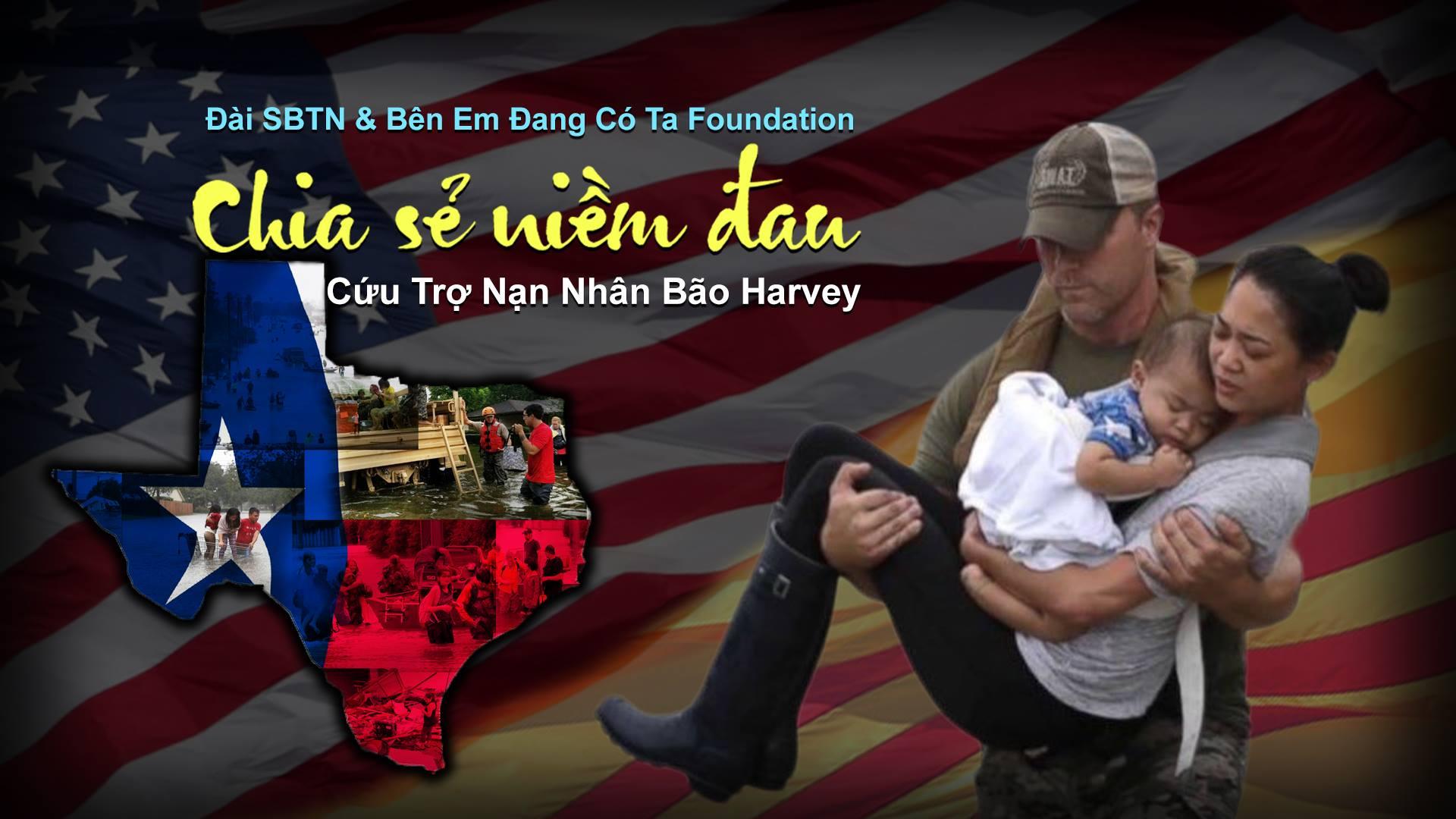 Phái đoàn SBTN qua Houston để trao tiền cứu trợ bão Harvey