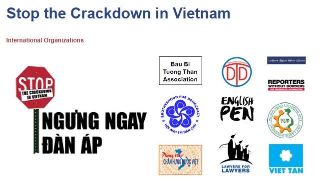 10 tổ chức quốc tế và Việt Nam phát động chiến dịch kêu gọi ngưng đàn áp ở Việt Nam