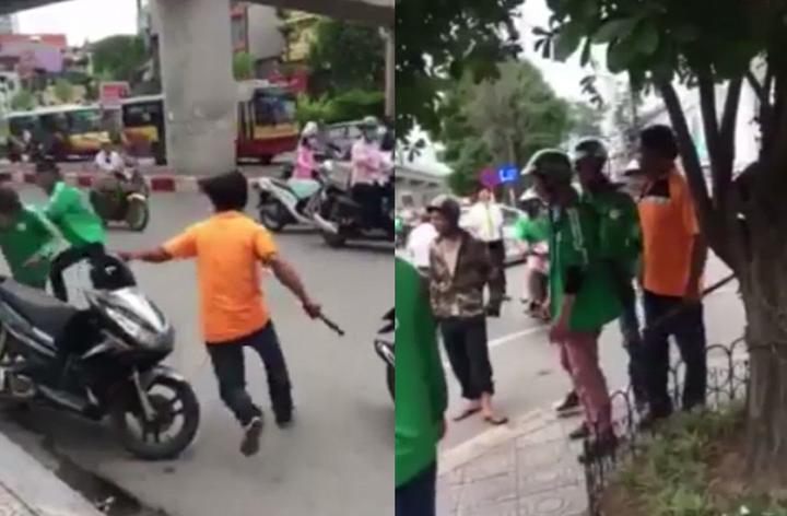 Tài xế Grabbike mặc áo giáp, mang súng đi trả thù nhóm tài xế xe ôm ở Sài Gòn