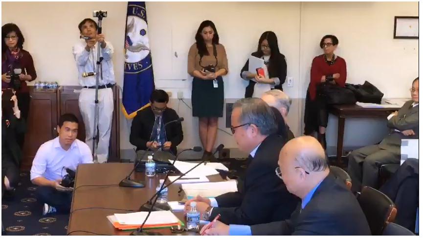 Mục Sư Nguyễn Công Chính tường trình trước Quốc Hội Hoa Kỳ về đàn áp tôn giáo ở Việt Nam