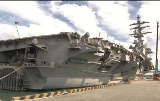 Hàng không mẫu hạm USS Ronald Reagan vào cảng Nam Hàn trong bối cảnh căng thẳng với Bắc Hàn