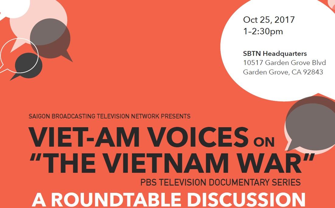 """Buổi hội luận bàn tròn bằng tiếng Anh tại SBTN về bộ phim """"The Vietnam War"""""""