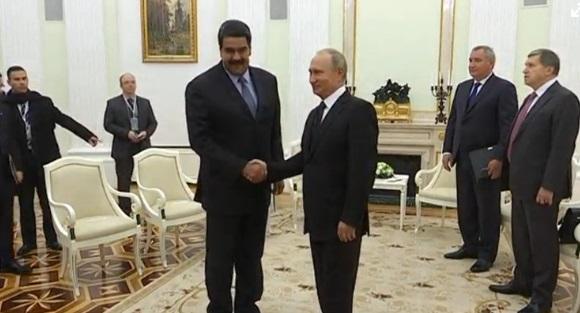 Maduro cám ơn sự hậu thuẫn về chính trị va kinh tế của Putin