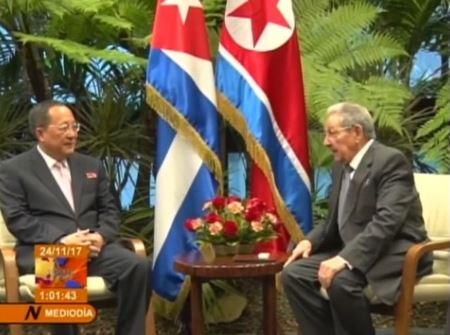 Raul Castro gặp ngoại trưởng Bắc Hàn giữa hy vọng Cuba có thể làm dịu tình trạng căng thẳng