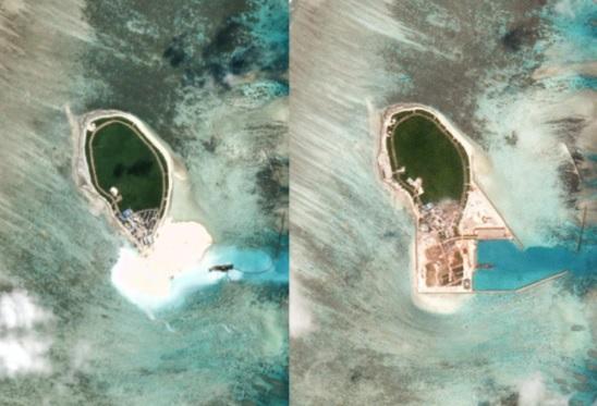 Trung Cộng tiếp tục đắp đảo và xây dựng cơ sở trên Biển Đông