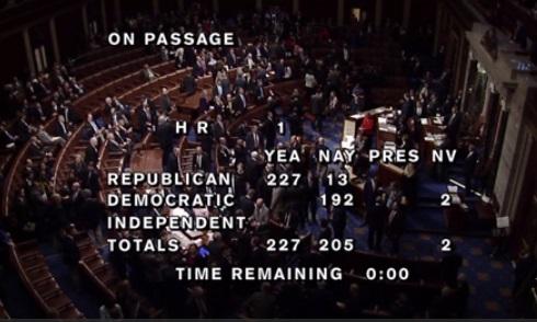 Hạ viện Hoa Kỳ thông qua dự luật cải tổ thuế 1.5 ngàn tỉ USD