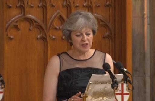 Thủ tướng Theresa May cảnh cáo Nga vì tấn công quân sự và can thiệp bầu cử Châu Âu