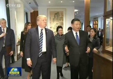 Tổng thống Trump thăm Trung Cộng ký thỏa thuận thương mại 9 tỷ Mỹ kim
