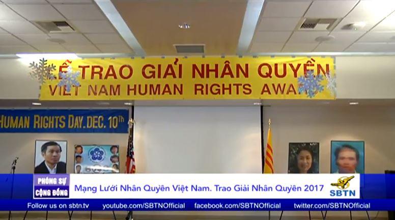 Mạng Lưới Nhân Quyền Việt Nam trao giải Nhân Quyền 2017