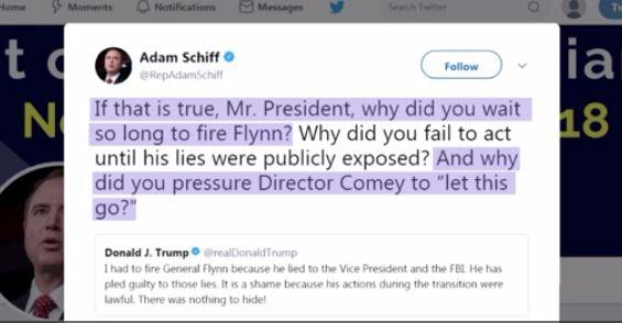Luật sư của ông Trump nhắn tin trên Twitter rằng ông Trump biết ông Flynn nói dối FBI