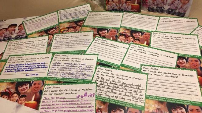 Trẻ em Mỹ gốc Việt gửi thiệp giáng sinh cho tổng thống Trump về Mẹ Nấm và Trần Thị Nga