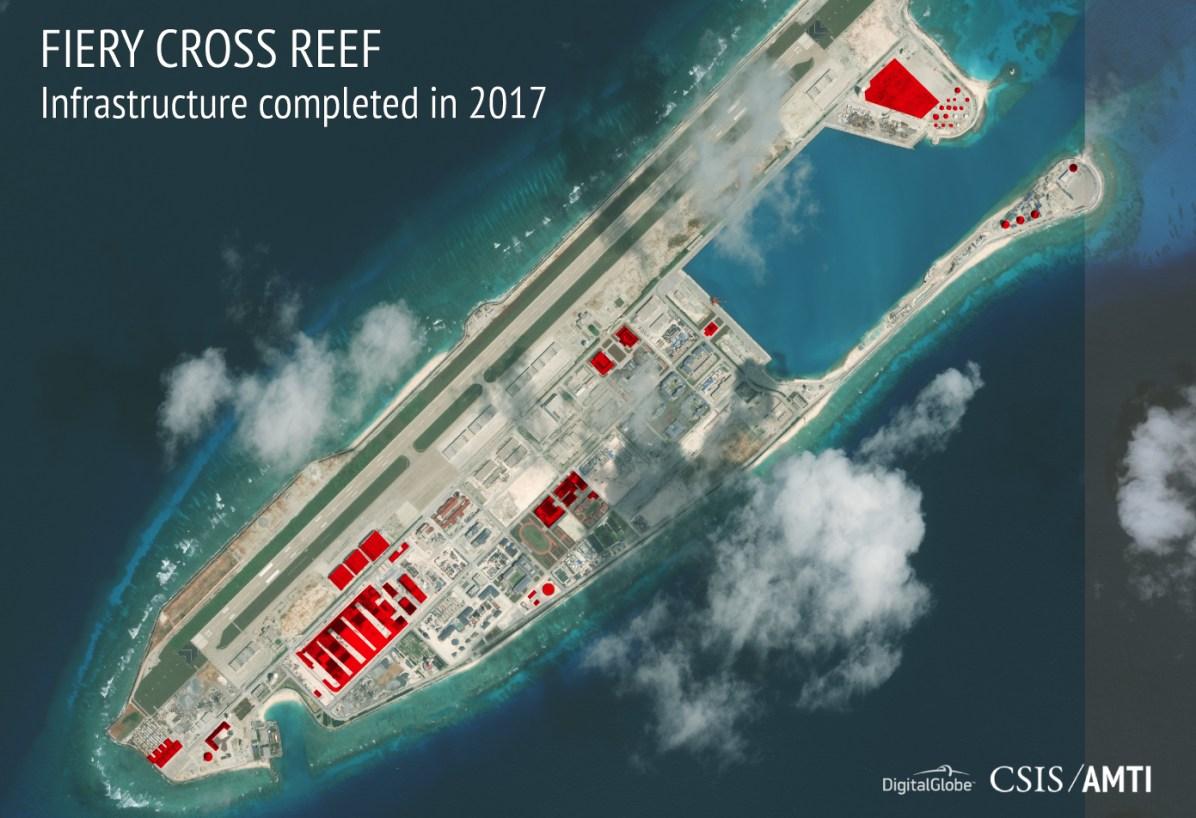 Trung Cộng tiếp tục xây đảo ở Biển Đông trong khi thế giới chú ý tới Bắc Hàn