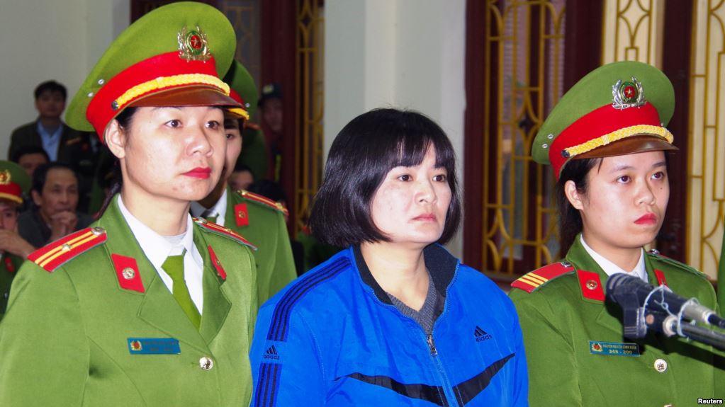 Tòa Đại Sứ Hoa Kỳ lo ngại việc CSVN y án tù 9 năm bà Trần Thị Nga