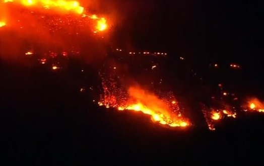 Bão lửa Los Angeles chưa dứt lại bùng lên cháy rừng Lilac Fire – San Diego