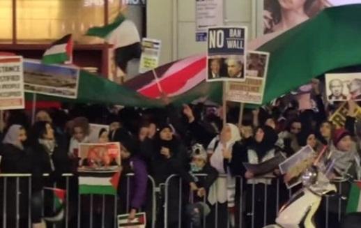 Biểu tình  tại New York phản đối chính sách Jerusalem của tổng thống Trump