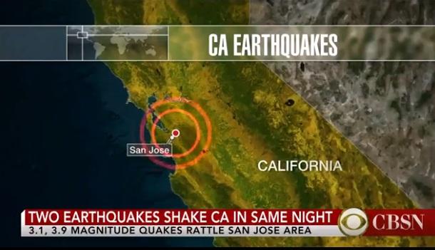 Hai trận động đất cách nhau vài giờ làm rung chuyển San Jose, California