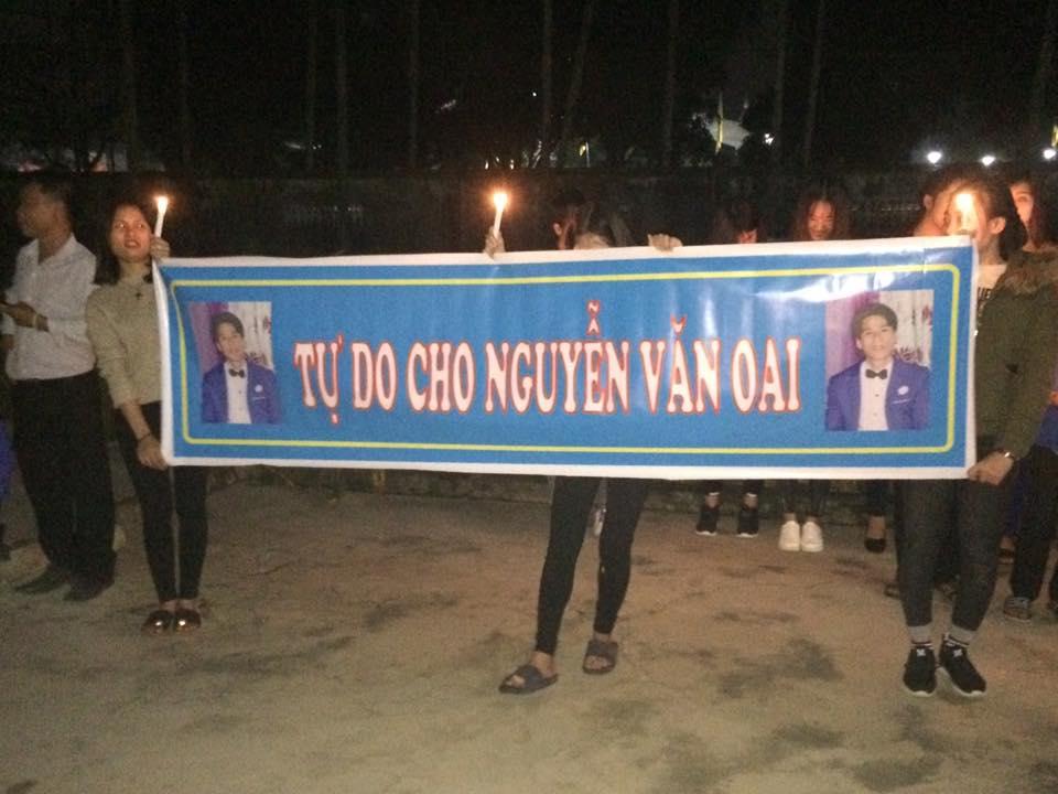 Gíao xứ Yên Hoà đồng hành với tù nhân lương tâm Nguyễn Văn Oai