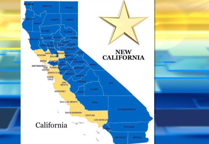Dự định tách nhiều quận hạt California thành tiểu bang New California