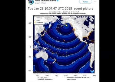 Động đất 8.2 độ richter làm rung chuyển Alaska, cảnh báo sóng thần