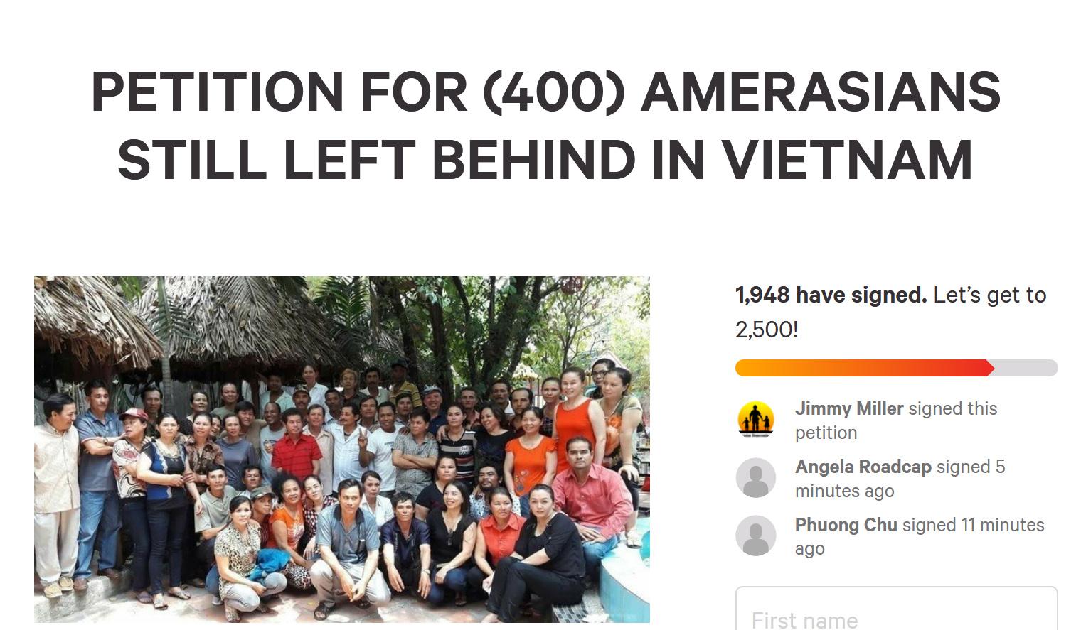 AWB kêu gọi Hoa Kỳ cấp visa cho những người con lai còn tại Việt Nam