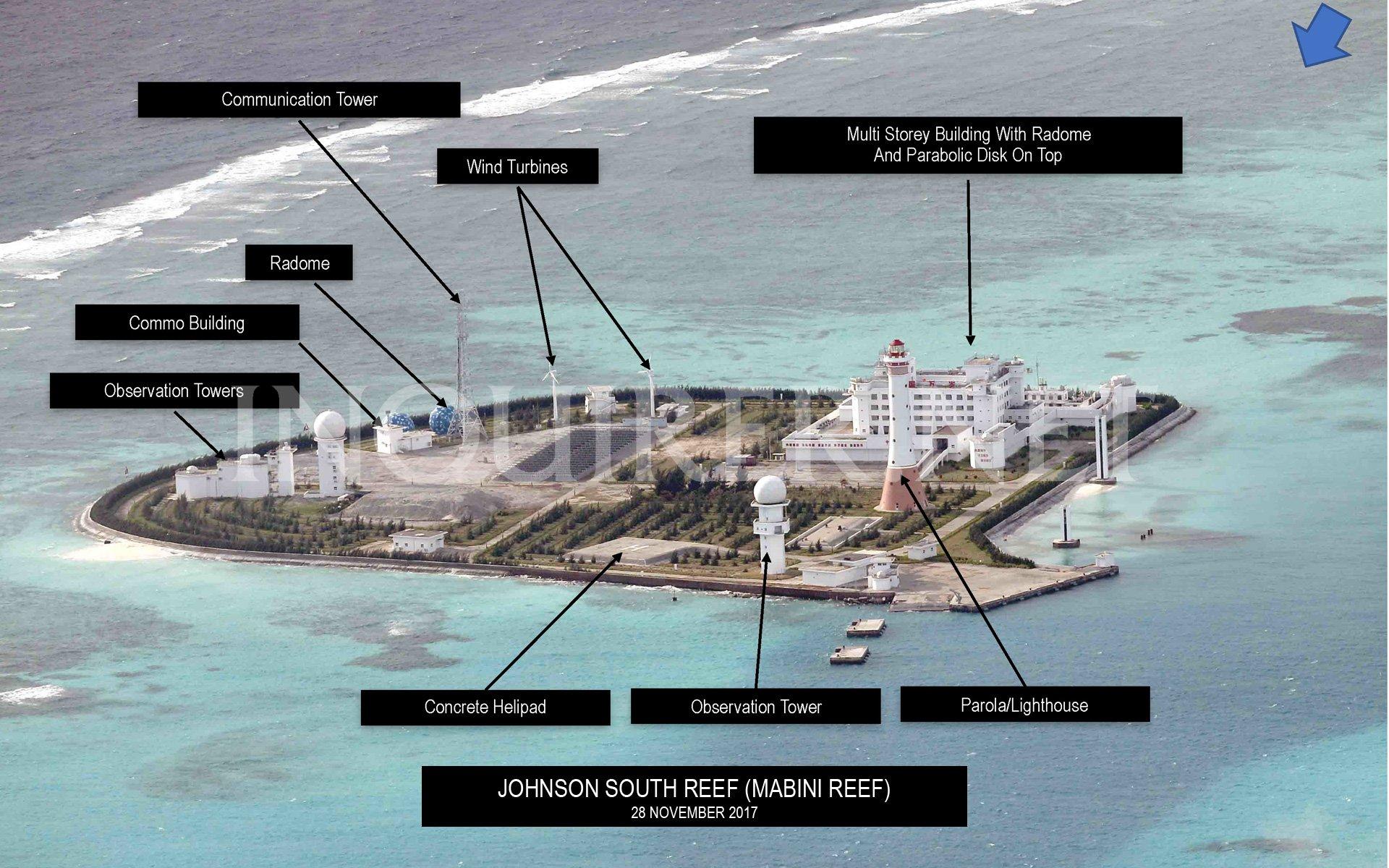 Báo Philippines đăng ảnh mới về 7 đảo được Trung Cộng quân sự hóa ở Trường Sa