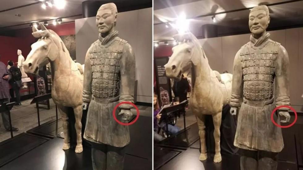 Trung Cộng tức giận vì tượng chiến binh Tần Thuỷ Hoàng tại Philadelphia bị trộm ngón tay cái