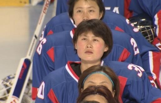 Đội nữ khúc côn cầu Nam- Bắc Hàn thua Thuỵ Điển 1- 3 trong trận giao hữu