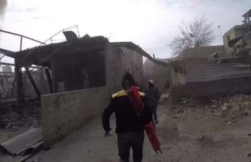 Lực lượng thân Assad bỏ bom, hàng chục người chết ở Ghouta-  Syria