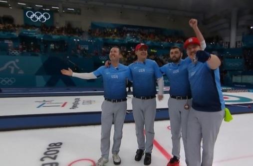 Đội tuyển Hoa Kỳ lần đầu tiên đoạt huy chương vàng môn curling (ném tạ trên băng)
