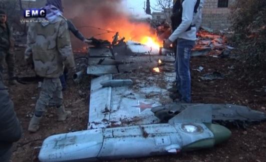 Quân nổi dậy Syria bắn rơi chiến đấu cơ Nga, giết phi công nhảy dù