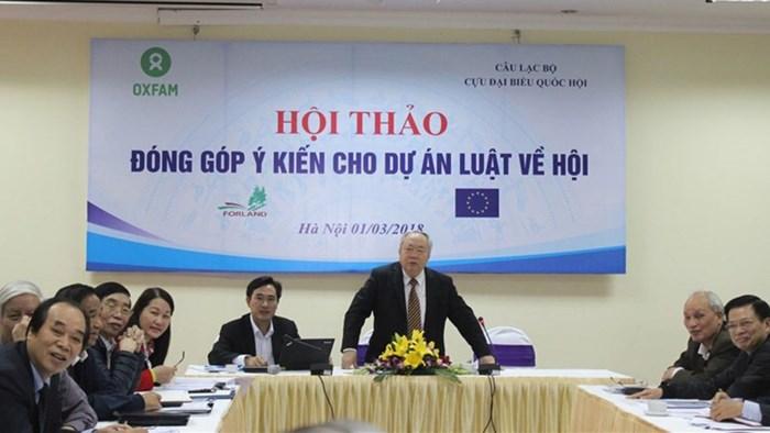 CSVN tổ chức hội thảo góp ý cho luật về hội