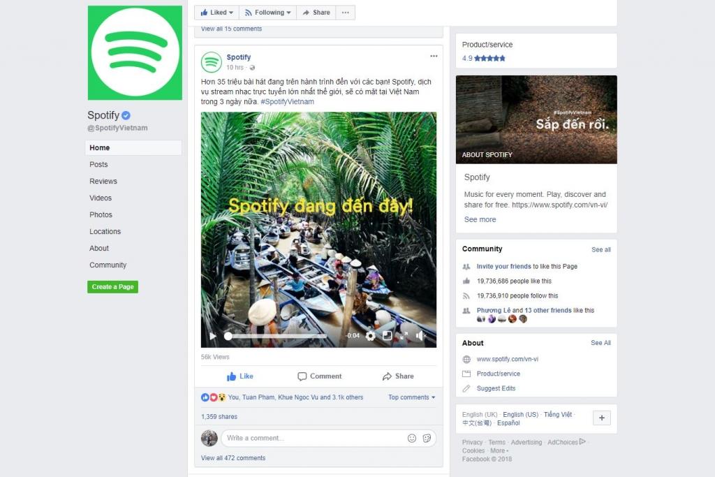 Công ty Thụy Điển Spotify sắp cung cấp dịch vụ nhạc trực tuyến ở Việt Nam