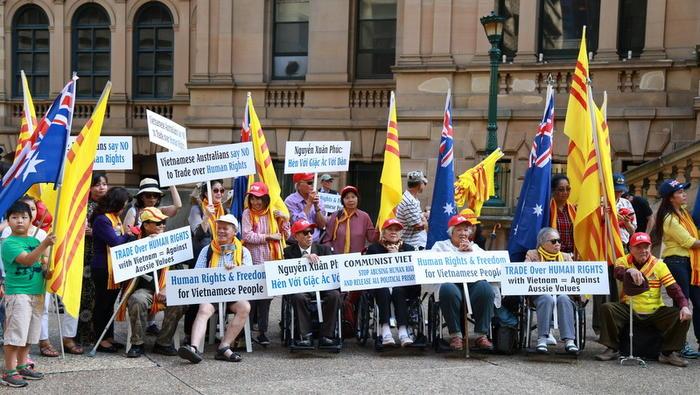 Biểu tình tại Sydney lên án giới lãnh đạo Đông Nam Á về nhân quyền