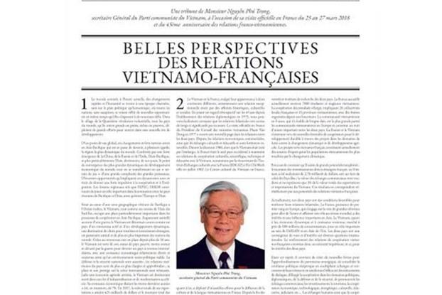 Bài viết của Nguyễn Phú Trọng đăng trên trang quảng cáo tờ Le Monde tốn 150,000 Euro