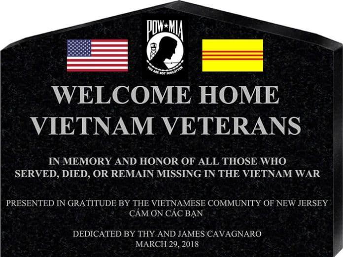 Khánh thành tượng đài Tưởng Niệm Chiến Sĩ Việt Mỹ New Jersey do phụ nữ gốc Việt tài trợ