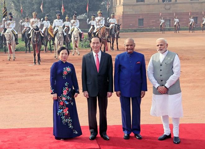 Chủ tịch Quang tới New Delhi gặp thủ tướng Ấn Độ