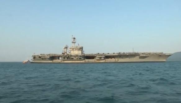 Hàng không mẫu hạm Uss Carl Vinson kết thúc chuyến thăm Việt Nam
