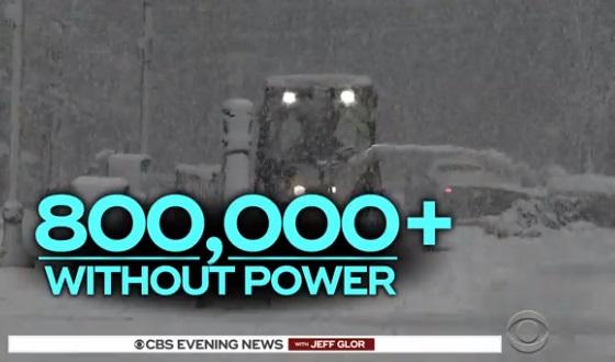 Bão tuyết tấn công vùng Đông Bắc Hoa Kỳ, 800,000 căn nhà mất điện