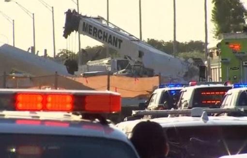 Cầu đi bộ ở Florida sập- ít nhất 6 người tử thương