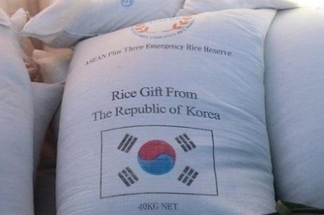Việt Nam nhận gạo cứu trợ từ Nam Hàn