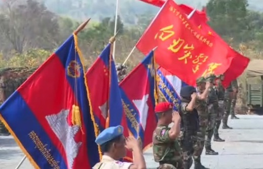Binh sĩ Cam Bốt tập trận chung với quân đội Trung Cộng