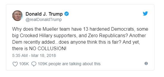 Các nhà lập pháp Cộng Hòa cảnh báo tổng thống Trump đừng sa thải Robert Mueller