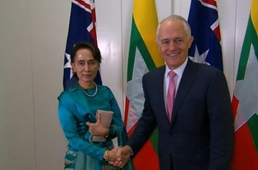 Nhà lãnh đạo Myanmar Aung San Suu Kyi được đón tiếp trọng thể tại Úc