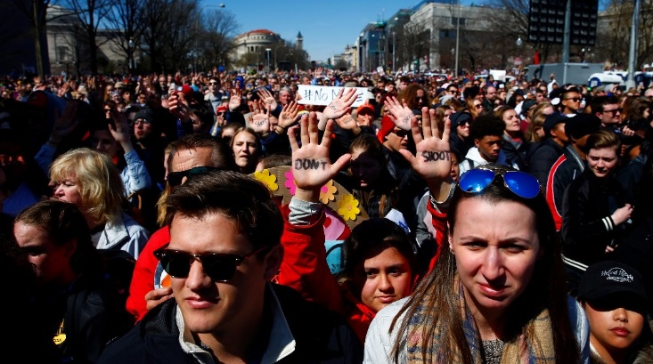 Thanh thiếu niên, học sinh toàn nước Mỹ biểu tình chống súng