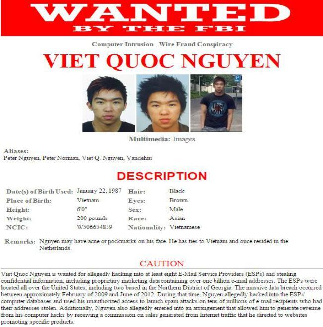 Một người Hà Nội trong danh sách 10 tin tặc bị FBI truy nã